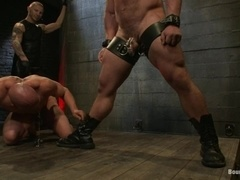 Chad Rock and some brunette poof get tormented in the basement