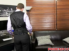 Mike Manchester and Tony Hunter enjoying anal in the office
