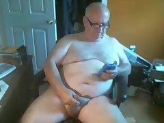 grand-dad cum On web camera