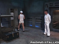 RagingStallion Hot Sailor Disciplined by Daddy Officer