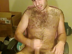 Gorgeus bear wanking so good