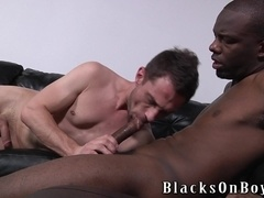 Mason Evans enjoys being fucked by a black gay hunk