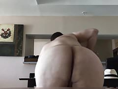 Chubby Shaking his ass on a chair