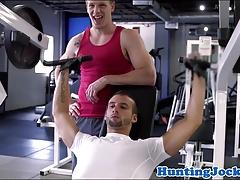 Muscular workout jock analized in lockerroom
