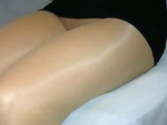 crossdresser pantyhose legs black mini 109
