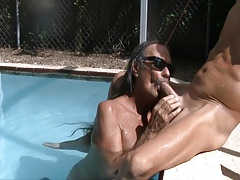 Jamie Sucks Jenny in the Pool #1