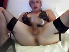 Big ass CD masturbation