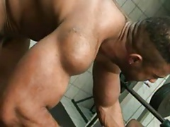 Big Muscle Men at Gym