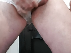Little lace knickers wank n cum..indian gym teachers