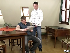 He seduces him into gay cock riding