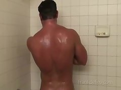 Frank Jerks Off And Showers