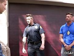 Officer Ducati fucks a gay twink