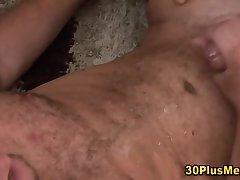 Hot hairy bears get cummed on