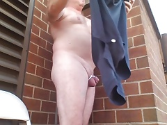JoeyD outdoor anal new 9 inch Black Cock Moaning 2