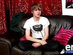 Emo twinks Josh Frey sprays a huge load of jizz on himself