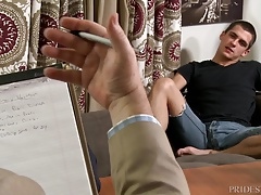 Sex Addict Fucked by Hunk in Public