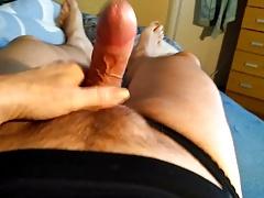 cumshot in wife's panties & top