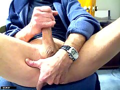 Lustful Gay Jerking Off With His Finger In Ass