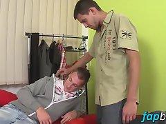 Sexy Nick Daniels seduces John Parker into a hot gay sex