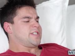 Amazing stud swallows a hairy joystick