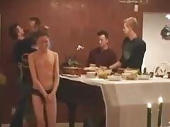 Boy Servicing Daddy & His Buddies