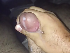 Stroking my cock, another big cumshot