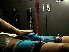 Horny Stud Tickling & Stroking Obedient Guy