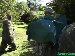 Army troops outdoor assdrilling exercise