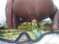 Extreme insertion anal of bottle