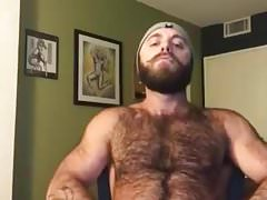 Hairy Lumberjack Shows Off his Cock ( No Cum )