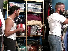 Horny Boy Dicking Hairy Cubano Ass At Work!!!