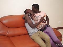 Black Africans Manu and Dulani Bareback
