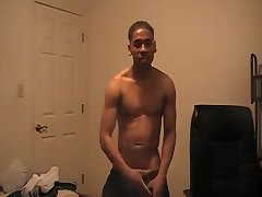 Sexy Black guy dancing naked