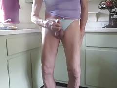 Panty boy masturbates and squirts