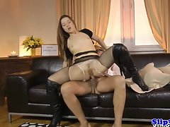 Glam eurobabe assfucked by british cock