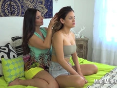 Mindi Mink and her lusty mate went to the room to lick each other's humid vag