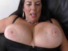British big breasted housewife playing with her toys