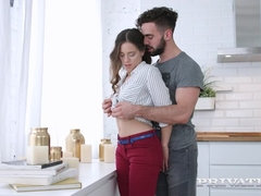 Gorgeous Teen Fucked in Kitchen