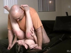 College co-ed fucks a slob in her porn debut