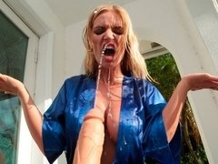 Great-looking busty angel Rachael Cavalli impaled by a big black dick