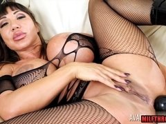 Latin mature anal sex with money shot