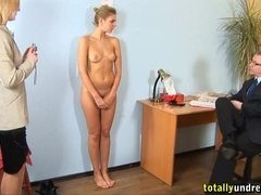 Arina - Cheeky young girl secretary humiliating audition