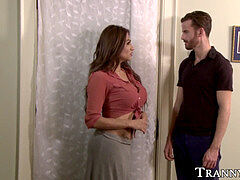Latina she-male rectally plumbs brother in law