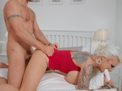 Silicone whore Sophie Anderson can't get enough of hard prick