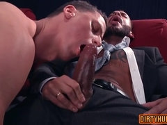 Gay pair enjoys hard anal sex in the cinema
