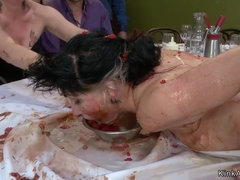 Dirty with food slut anal public fucked