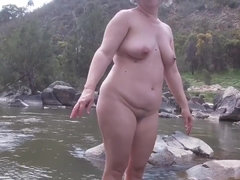 Nude Hiking, Swimming & Dicking - amateur BBW outdoor sex