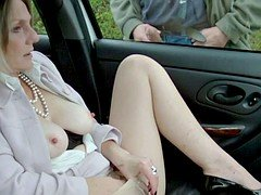 Dogging in Seamed Pantyhose Part 2