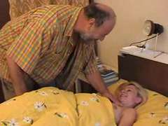 grandpa (old dude) nail a teenager in the bedroom
