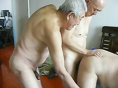 Fine chinese older people having superb fuckfest